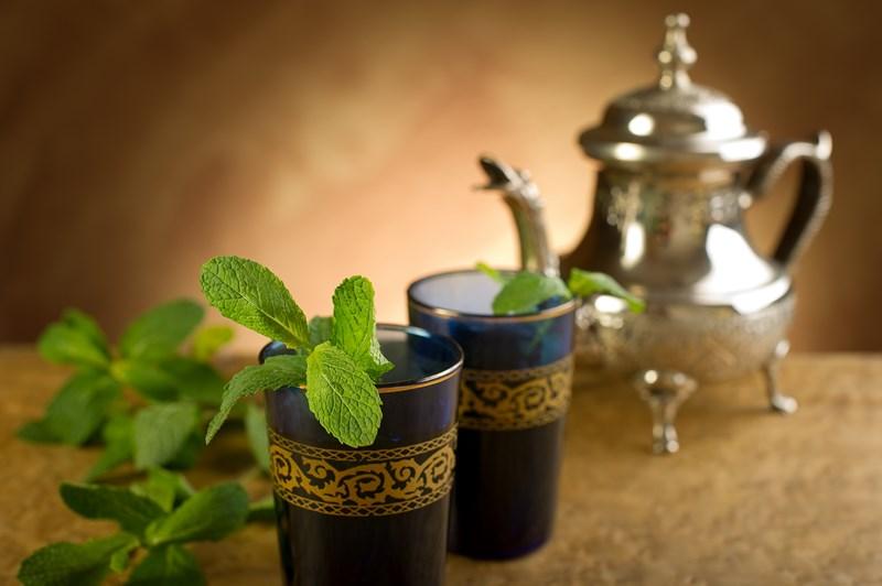 Le thé à la menthe est une tradition